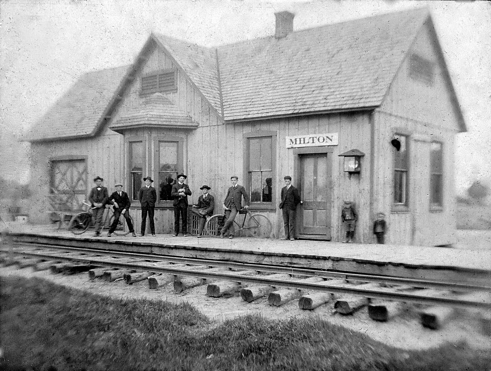 Milton R.R. station, 1904