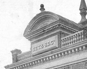 S. T. T. & S. D. Building entablature