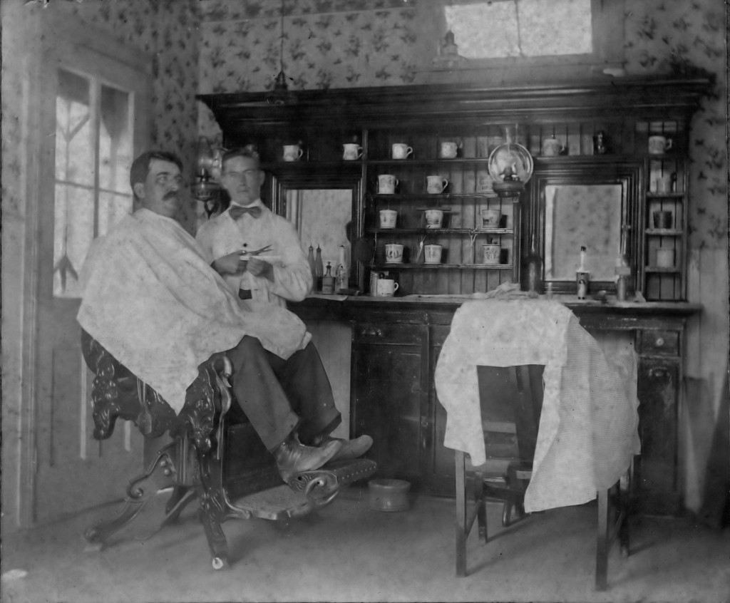 Barber shop - possibly John Megee?