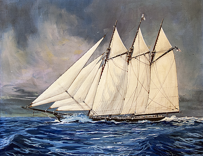 Fannie Kimmey, painting owned by Milton Historical Society