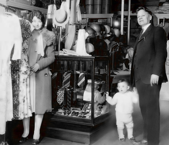 Winfield R. Wright in his Milford store ca. 1932