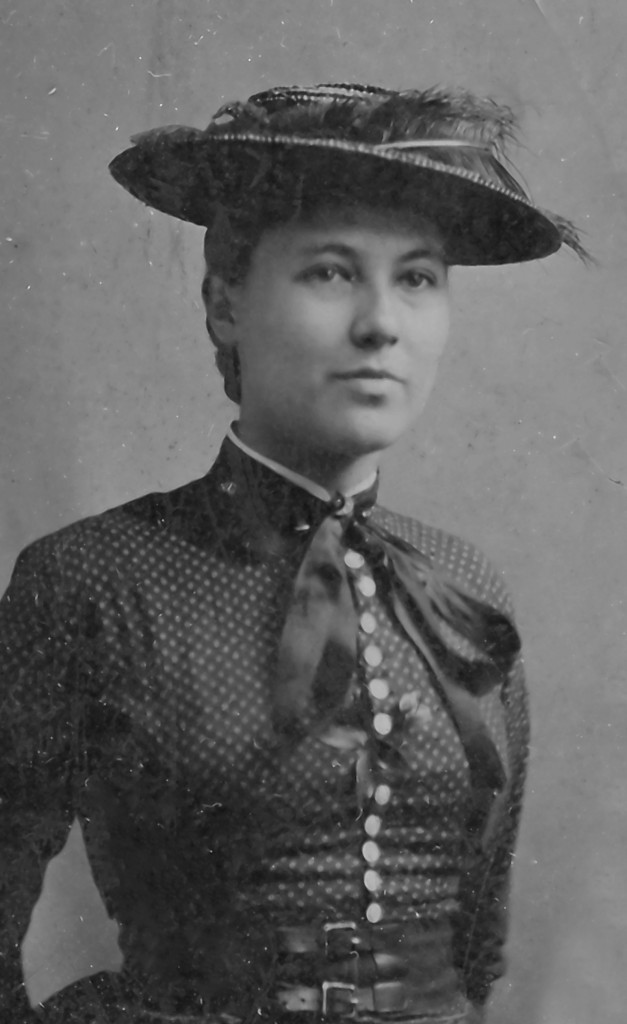 Margaret Coulter Carey Fisher (1864 - 1942), from a ferrotype ca. 1880