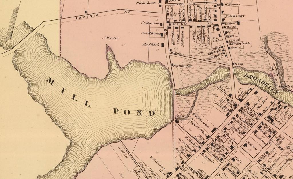 Detail of mill area, Milton, 1868