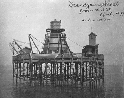 Brandywine Shoal Lighthouse in 1897