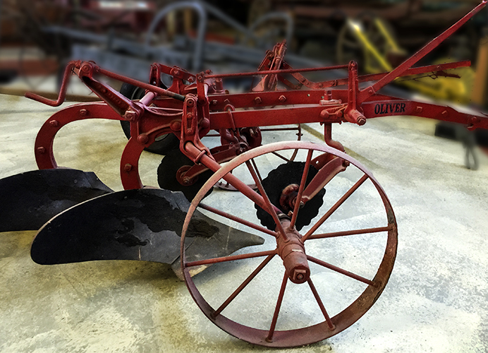 Oliver horse-drawn double plow.