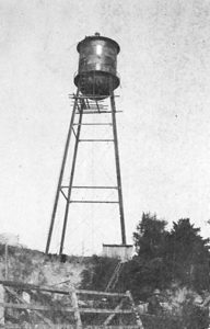 Milton's first water tower, ca. 1916