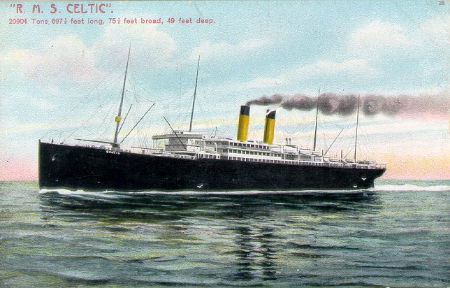 RMS Celtic, date unknown