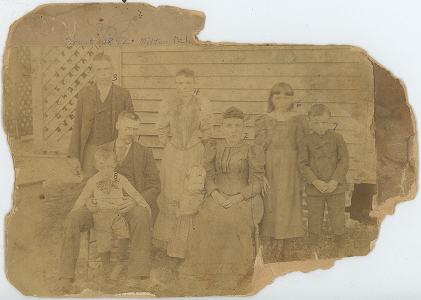 Original 1892 print of R. C. Beardsley family